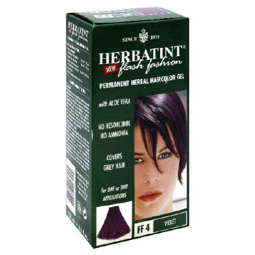 Permanent Herbal Hair Color Gel FF4 Violet by Herbatint - 1 piece HT00304