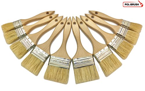 10-pack-professional-paint-brushes-natural-bristlewood-handle-for-professional-amateur-paint-job-oil