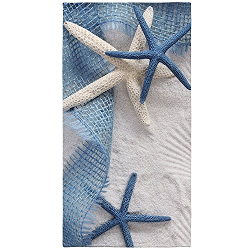 Astrea Textiles Beach Towels - Perfect For The Beach Bath And Pool - 3D Printing Navy Blue White -Turkish Cotton - For Both Adults And Kids