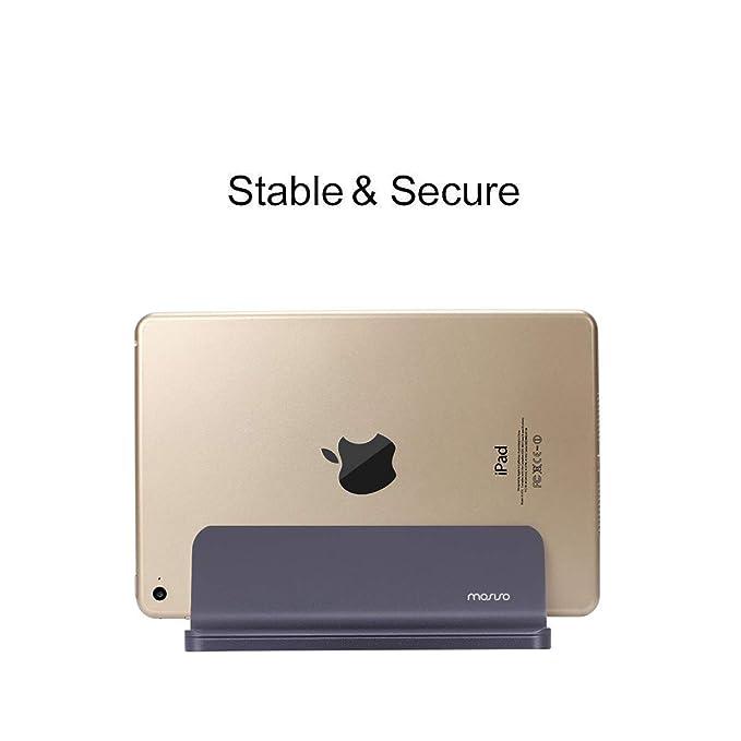 Space Grau MOSISO Laptop Stand Vertikale Aluminiumlegierung Dual Cradles Desk Halter Doppel Platzsparende Dock in One Set Kompatibel iPad Pro//MacBook Air//MacBook Pro und andere Notebook