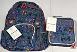 Pottery Barn Kids Marvel Allover Print Large Backpack & Classic Lunch Bag