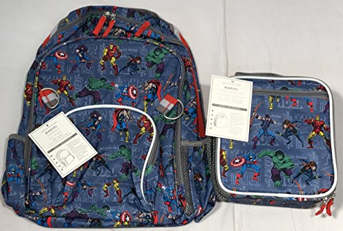 Pottery Barn Kids Marvel Allover Print Large Backpack &