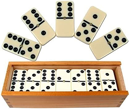 Precision Professional Set Club Dominoes With Raised Pin And Wooden Box Amazon Co Uk Toys Games