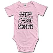 I And My Mother Listen To Country Music Newborn Unisex Boys Girls Short Sleeve Bodysuit Outfits