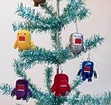 Domo Set of 10 Holiday Christmas Tree Ornaments