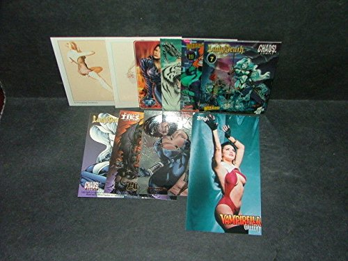 10 Smokin' Hot Promo Cards She-Hulk, Vampirella, Vargas, Lady Death, Dbl Impact