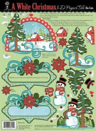 Hot Off The Press 3-D Papier Tole Die-Cuts: White Christmas