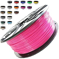 Melca 1.75 3D Printer Filament PLA 1kg +/- 0.03mm, Pink (#CF3476) from Melca