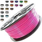 Melca 1.75 3D Printer Filament PLA 1kg +/- 0.03mm, Pink (#CF3476)