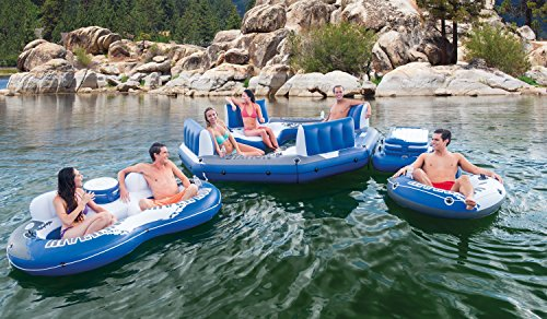 Intex Pacific Paradise 4-Person Relaxation Station Water Lounge River Tube Raft by Intex (Image #2)