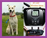 AETERTEK Wireless Electronic Fence with 50m 10 Levels Adjustable Range,Beep,Vibrate,Shock for 1 Dog/Cat