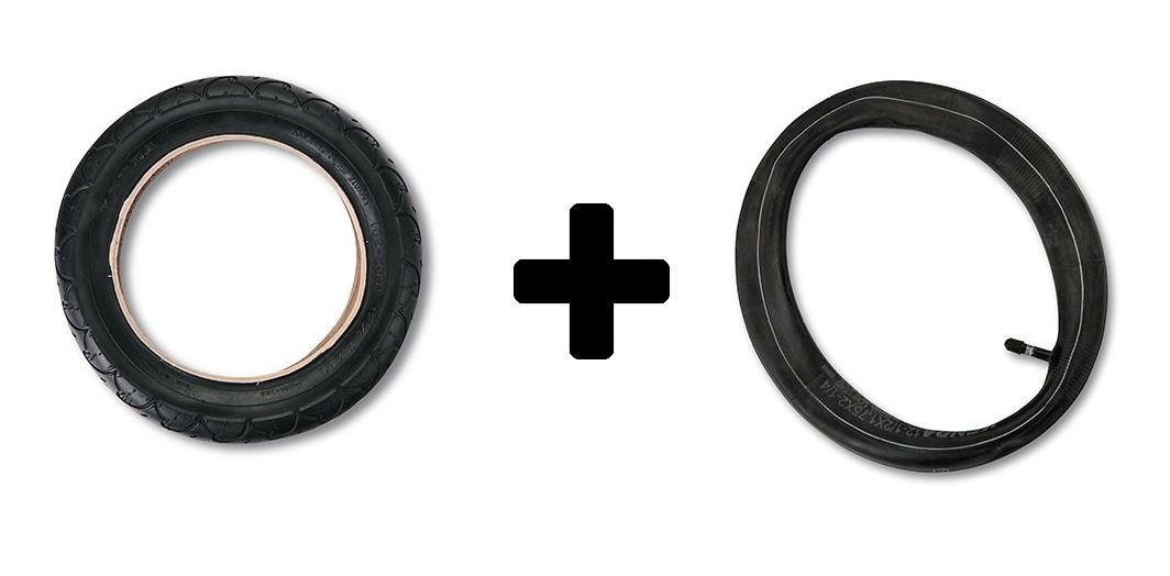 12.5'' Front Tire and 12.5'' Inner Tube for BOB Revolution SE/Flex/Pro Single and Duallie Strollers