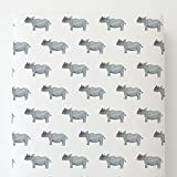 Carousel Designs Painted Rhino Toddler Bed Sheet Fitted