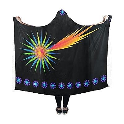 Jnseff Hooded Blanket Shooting Star Star Starry Sky Night Night Sky Blanket 60x50 Inch Comfotable Hooded Throw Wrap