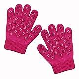 EvridWear Boys Girls Magic Stretch Gripper Gloves 3 Pair Pack Assortment, Kids One Size Winter Warm Gloves Children