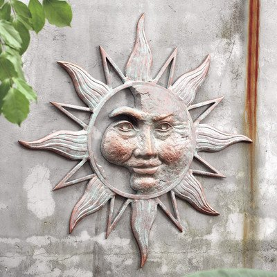 SPI Home 33163 Half Face Sun Wall Plaque