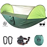 CAMDEA Camping Hammock with Mosquito Net, Ultra Lightweight Portable Hammock, Single & Double Hammock with Bug Net, Windproof Hammock Tent Swing for Sleeping, Travel, Outdoor