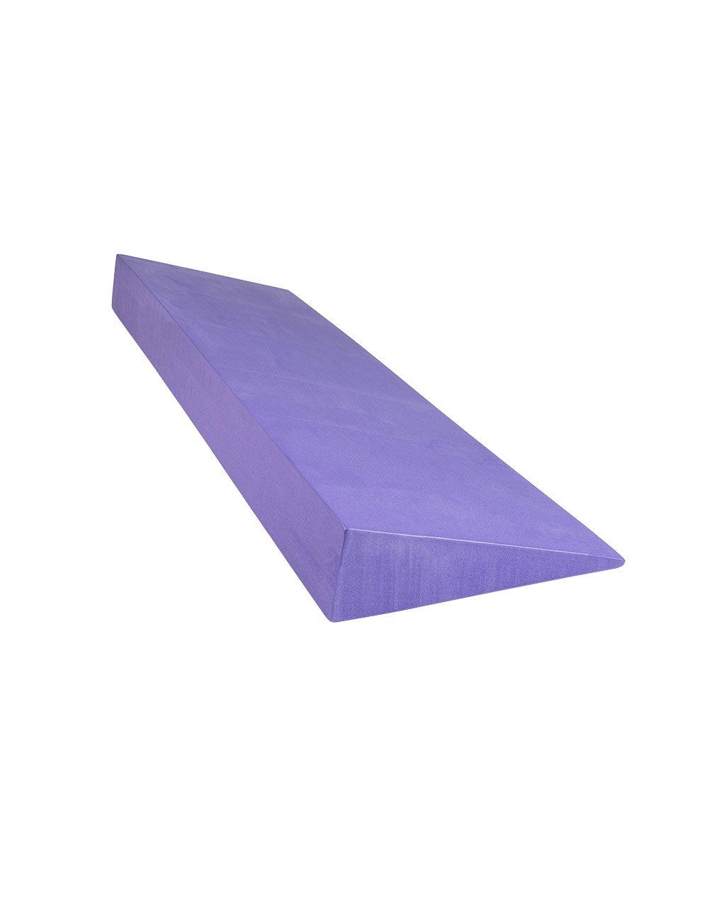 "Yoga Wedge: 6"" Wide X 20"" Long X 2"" Thick, Purple"
