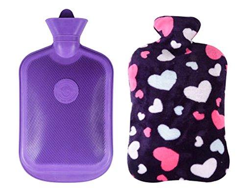 Weiche waschbare Rechteckige Wärmflasche mit Deckel 2 L -Liebevolles Herz