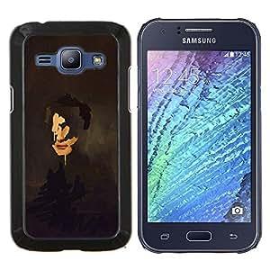 """Be-Star Único Patrón Plástico Duro Fundas Cover Cubre Hard Case Cover Para Samsung Galaxy J1 / J100 ( Pintura del arte del retrato de caras Reflexión"""" )"""