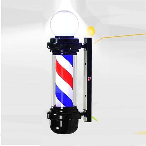 Amazon.com: Barber Pole LED luz esférica, peluquería barbero ...