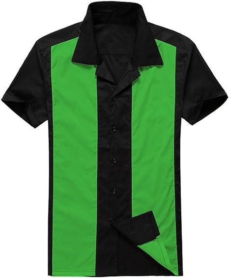 Candow Look Ropa Online Camisa de Hombre 50s Retro Style Rockabilly workshirts