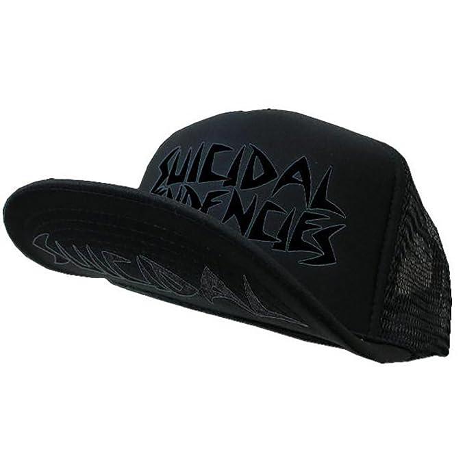 0ca09c7cfb1 Image Unavailable. Image not available for. Color  Suicidal Tendencies OG  Logo Black Body Black Print Flip Up Snapback Hat Cap