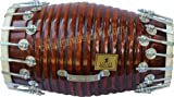 INDIAN HANDMADE WOOD DHOLAK INDIAN FOLK MUSICAL INSTRUMENT DRUM NUTS N BOLT