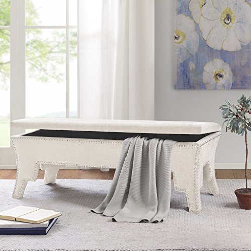 Bower Storage Accent Bench Cream See below by Madison Park