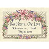 Dimensions Needlecrafts 6897 Counted Cross Stitch, One Love Wedding Record
