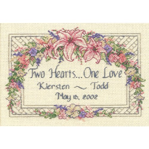 Love Counted Cross Stitch Pattern - Dimensions Needlecrafts 6897 Counted Cross Stitch, One Love Wedding Record