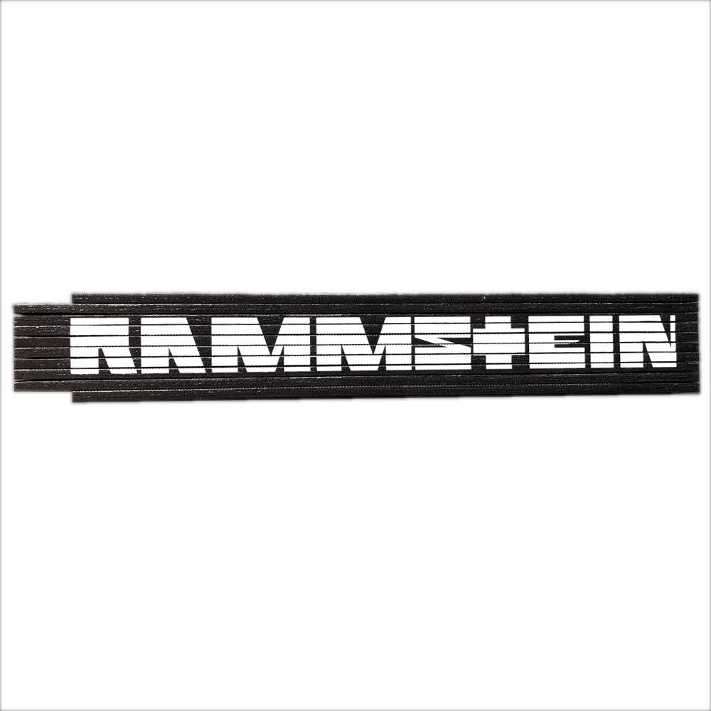"""Rammstein 2 Meter Zollstock /""""Schriftzug/"""" schwarz Holz Offizielles Band Merchandise"""