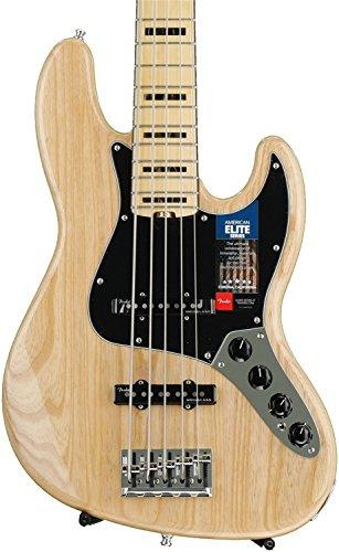 Fender American Elite  Jazz Bass, Ash - Natural -  0197102721