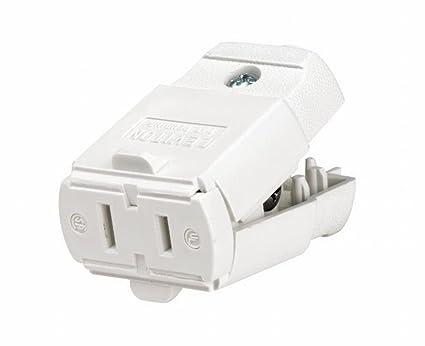 Leviton 102-WP 2 Pack 15Amp 125V Cord outlet Polarized Non-Grounding ...