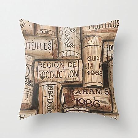 Amazon.com: Lino y Algodón Square Throw funda de almohada ...