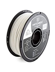 HATCHBOX 3D ABS-1KG1.75-WHT ABS 3D Printer Filament, Dimensio...