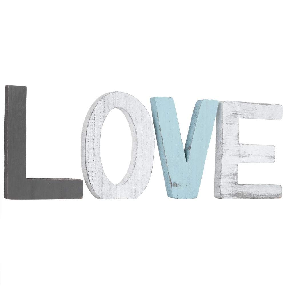 """Rustic Wood Love Sign,""""Love"""" Decorative Wooden Letters,Free Standing Large Wood Letters Sweet Home Decorative Signs,for Livingroom,Kitchen,Mantel Decoration   Wedding, Housewarming Party Gifts"""