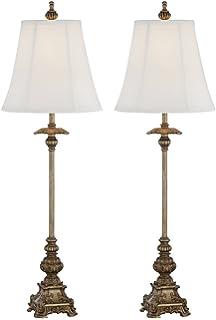 juliette gold buffet table lamp set of 2