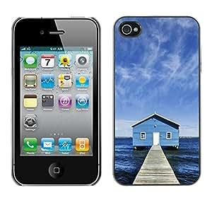 Cubierta de la caja de protección la piel dura para el Apple iPhone 4 / 4S - Pirate & Sword