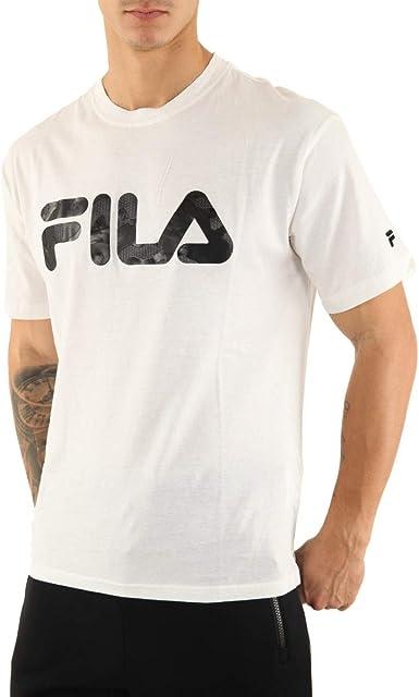 Camiseta blanca con logotipo de Fila: Amazon.es: Ropa
