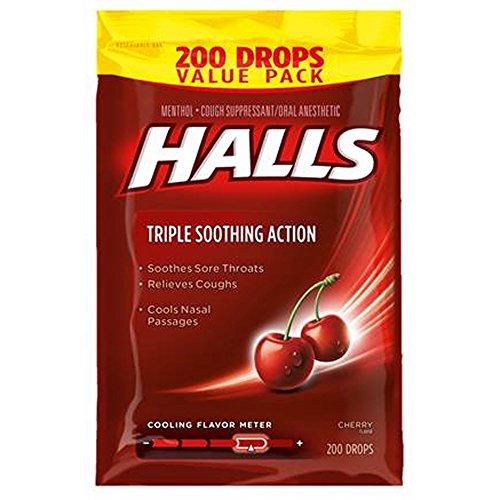 Halls Cherry Cough Suppressant Drops, 200 - Cherry 200