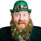 DomeStar Beard Ornaments, 24PCS Colorful Facial Hair Baubles Man Beard Bell Clip Beard Decoration for Men, April Fools Day St Patricks Day Decorations