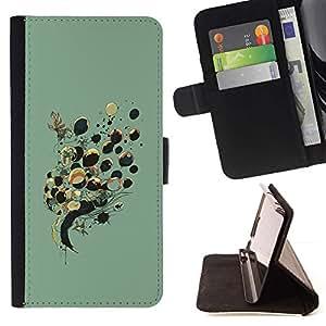 Momo Phone Case / Flip Funda de Cuero Case Cover - Globos Señora Dibujo Moda Profunda - Samsung Galaxy S6 Edge Plus / S6 Edge+ G928
