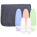 Hanging Toiletry Travel Bag and Bottles Set - Perfect Travel Accessories