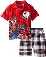 Marvel Boys' Spiderman Boy Polo Woven Pl...