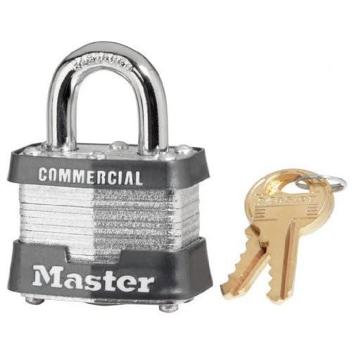 "24 Pack Master Lock 3KA-3212 1-9/16"" Wide Keyed Alike Commercial Grade Laminated Padlock with 3/4"" Shackle Height - Keyed to 3212 Key Code"