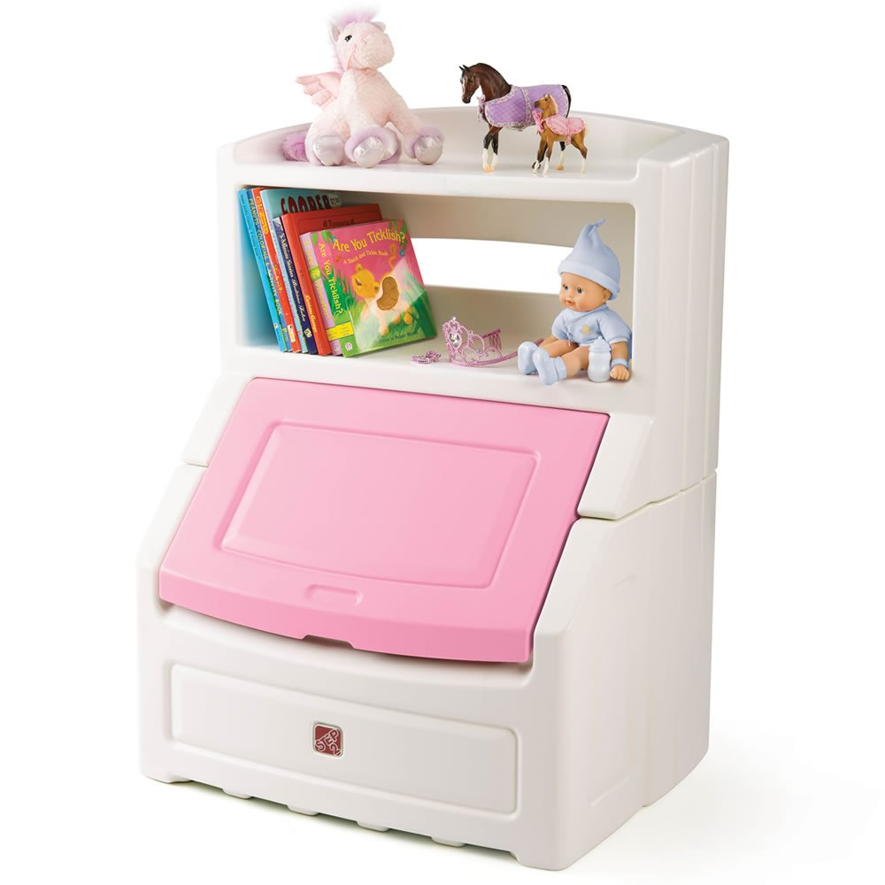 Amazon Com Step2 Lift And Hide Bookcase Storage Chest Toys