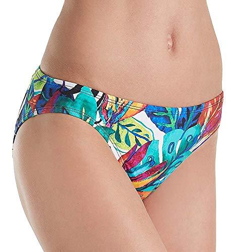 Lauren Ralph Lauren Women's Rainforest Tropical Print Hipster Bottom w/Classic Logo Plate Multi 6