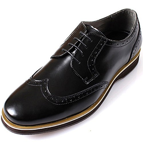 Chaussures Wing Tip Cuir Black Nouveau Casual Dress Up Trend Hommes TlJ1cFK