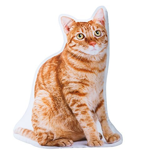 The Paragon Cat Shaped Pillow - Tabby 3-D Stuffed Cushion